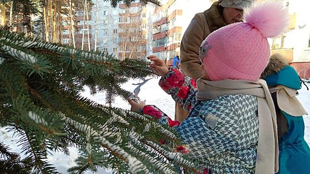 5 микрорайон: новогодние праздники продолжаются
